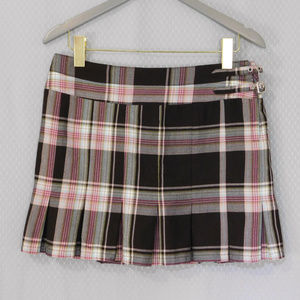 Mixit Pleated Plaid Skirt Size 8